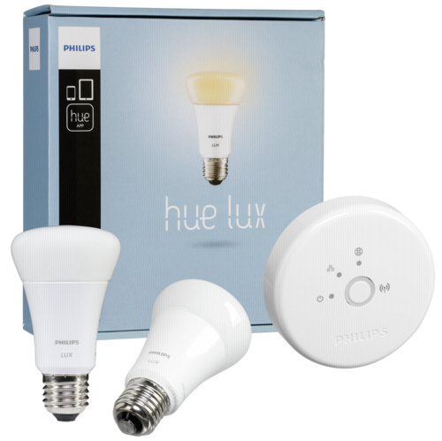 philips hardware electronic hue lux led lampe e27 starter philips hardware electronic hue. Black Bedroom Furniture Sets. Home Design Ideas
