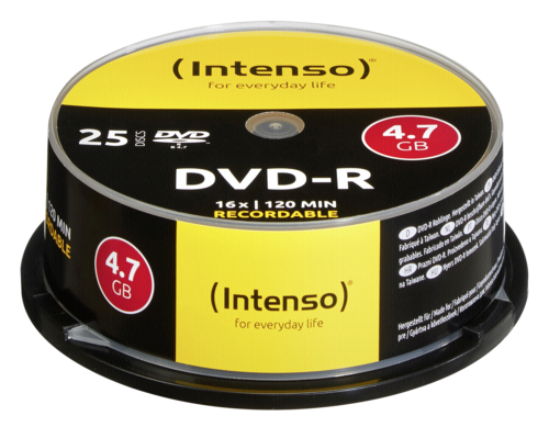 graphic relating to Printable Dvd Rohlinge named 1x25 Intenso DVD-R 4,7GB 16x Rate, Cakebox