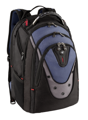 80a0e11ac8974 Wenger Ibex 17 black   blue Notebook Backpack