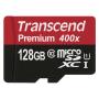 "Transcend""microSDXC 128GB Class 10 UHS-I 400x + SD Adapter"""