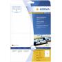 """Herma""""Laser glo. Etik. 96X139,7 25 Blatt DIN A4 100 Stück 4908"""""""