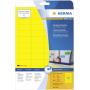 "Herma""Etiketten gelb 45,7x21,2 20 Blatt DIN A4 960 Stück 4366"""