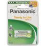 "Panasonic""1x2 Panasonic Akku NiMH Micro AAA 750 mAh Ready to Use DECT"""