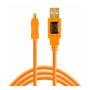 """Tether Tools""""TetherPro USB 2.0 A to Mini-B 8 pin 15 ORG"""""""