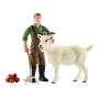"""Schleich""""Farm World 42375 Bauer mit Ziege"""""""