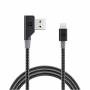 "Nonda""ZUS Carbon Fiber Edition - Lightning-Kabel - USB (M) gewinkelt bis Lightning (M) gerade - 1.2 m - für Apple iPad/iPhone/iPo"""