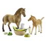 """Schleich Horse Club 42432 Set Tierbaby-pflege Und""""Set Tierbaby-pflege & Pferde Quarter Hor"""""""