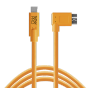 "Tether Tools""USB-C zu 3.0 Micro- B Right Angle 4,60m orange"""