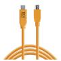 """Tether Tools""""USB-C zu 2.0 Mini B 5-Pin 4,60m orange"""""""