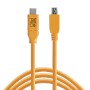 "Tether Tools ""USB-C zu 2.0 Micro- B 5-Pin 4,60m orange"""