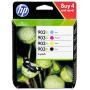 """Hp""""HP Original 903XL Tintenpatronen Multipack schwarz, cyan, magenta, gelb (3HZ51AE) [EURO-Version]"""""""
