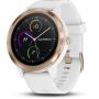 """Garmin""""vívoactive 3 - Rotgold - intelligente Uhr mit Band - Silikon - weiß - Bandgröße 127-204 mm - Anzeige 3 cm (1.2"""""""""""