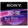 "Sony""Blu-Ray BD-RE 25GB 1-2x Speed, Slim Case [DE-Version, Regio 2/B]"""