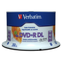 "Verbatim ""1x50 Verbatim DVD+R DL wide pr. 8x Speed, 8,5GB Life Series"""