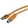 "Tether Tools ""TetherPro USB 3.0 A-B Stecker 4,6m orange"""