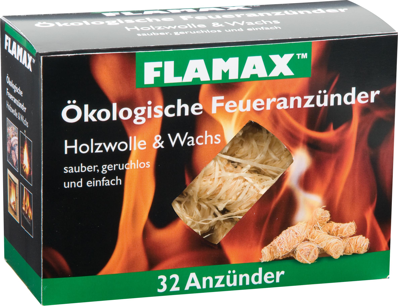 """Flamax""""Flamax 96 Öko Feueranzünder 32 18311 Holzwolle & Wachs S.248"""""""