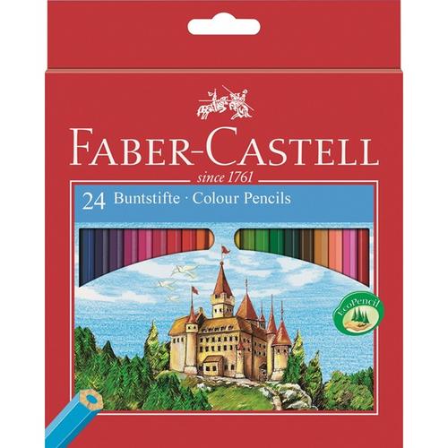 FABER-CASTELL Hexagonal-Buntstifte CASTLE 60er Kartonetui