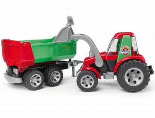 Bruder roadmax traktor frontlader kippanhänger bruder toys